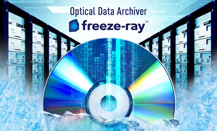 Используя диски Archival Disc объемом 300 ГБ, можно получить хранилище объемом 1,9 ПБ в стандартной 19-дюймовой стойке
