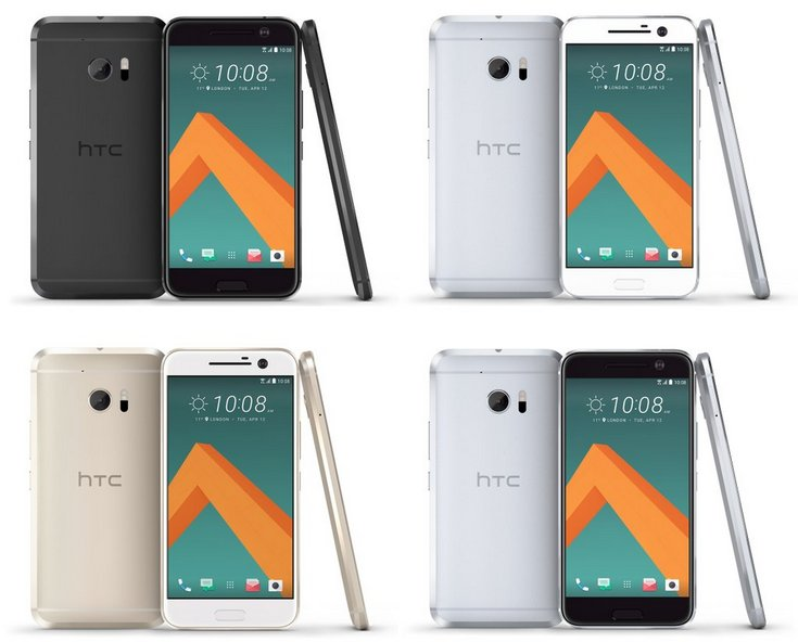 Смартфон HTC 10 будет доступен в четырех цветовых вариантах. Новые фотографии