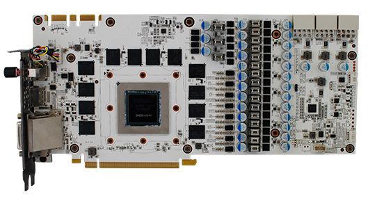 Подсистема питания видеокарты Galax GTX 980 Ti HOF GOC насчитывает 19 фаз