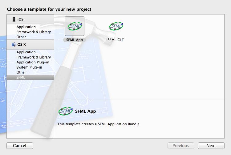 SFML и Xcode (Mac OS X) - 2