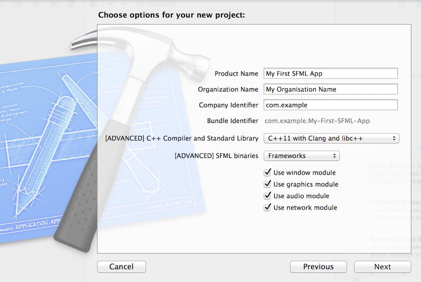 SFML и Xcode (Mac OS X) - 3