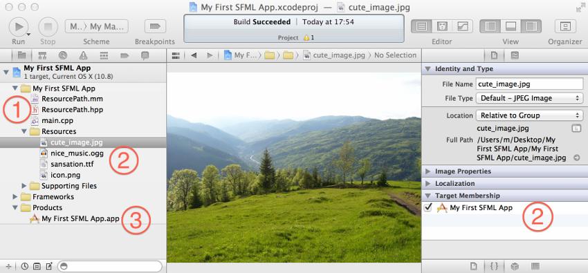 SFML и Xcode (Mac OS X) - 4