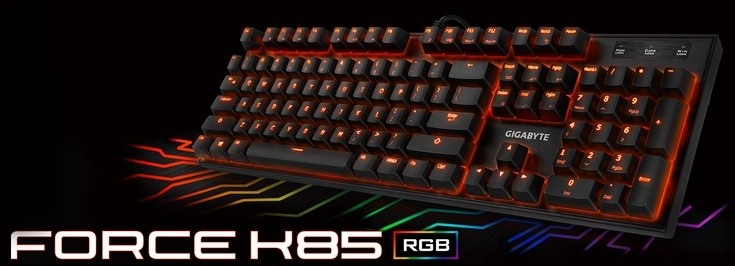 Gigabyte представила клавиатуру Force K85