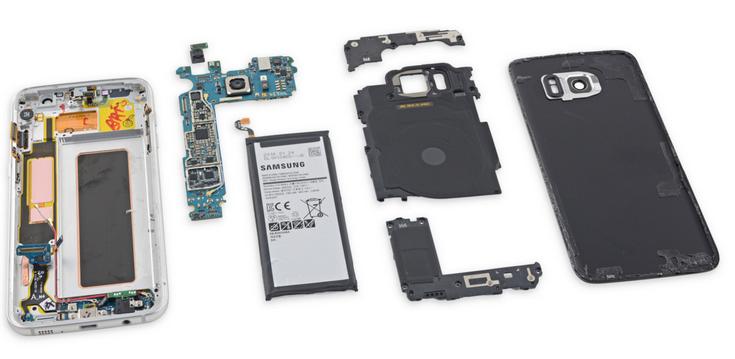 Смартфон Samsung Galaxy S7 edge заработал у iFixit три балла