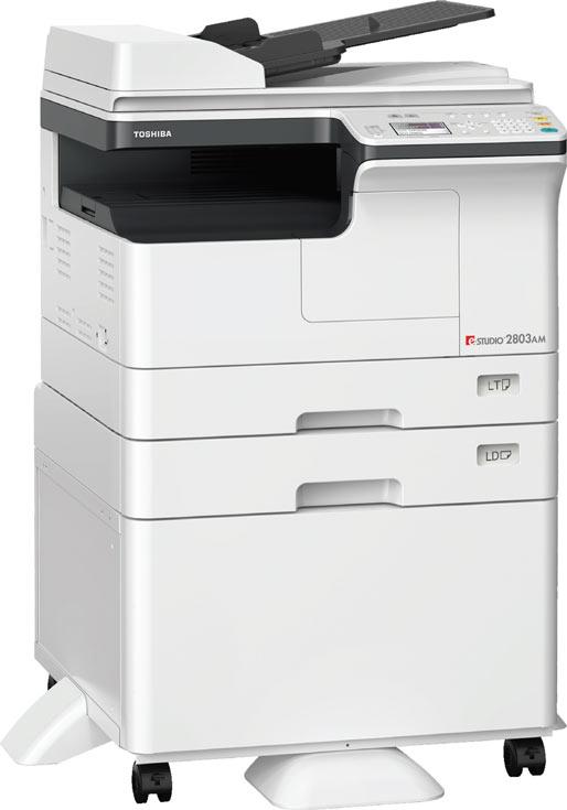 Монохромное МФУ Toshiba e-Studio 2803AM предназначено для небольших предприятий