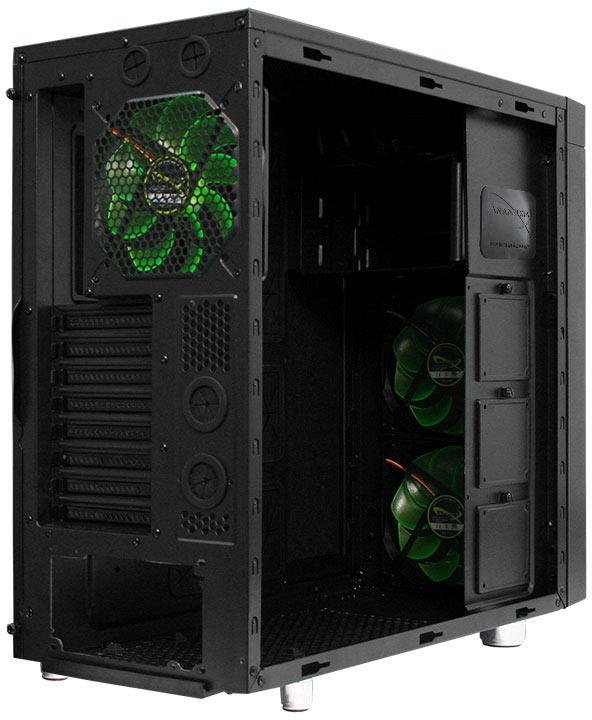 Корпус для ПК Nanoxia CoolForce 2 рассчитан на системные платы типоразмера XL-ATX