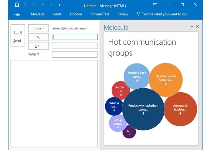 Molecula – новый способ ведения групповых переписок в Outlook - 1