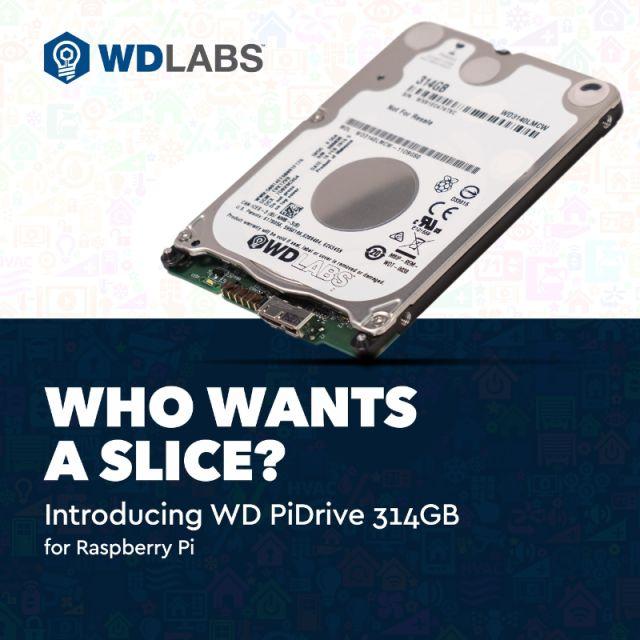 Western Digital представила HDD ценой в $46 и объемом в 314 ГБ специально для Raspberry Pi в день числа Пи - 1