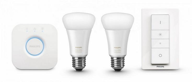 Набор Philips Hue White Ambience включает две лампы белого цвета