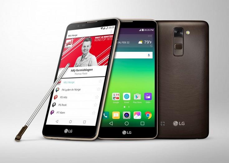 Смартфон LG Stylus 2 поддерживает радио DAB+