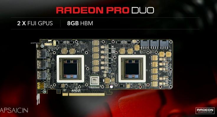 Раджа Кодури поделился некоторыми подробностями о Radeon Pro Duo