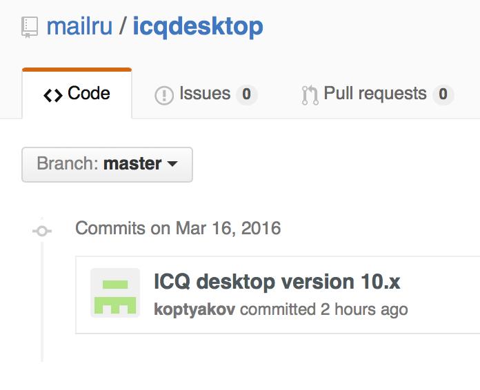 Mail.Ru официально открыла исходники ICQ для Windows и OS X (и объявила о клиенте под Linux) - 1