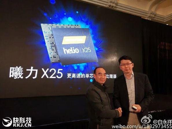 Однокристальная система MediaTek Helio X25 очень похожа на Helio X20
