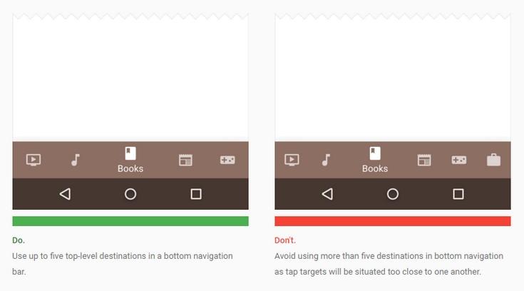 В приложениях Android появится новая нижняя панель