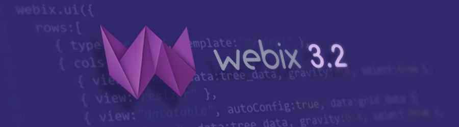 Релиз Webix 3.2. Новые виджеты для работы с данными и прочие фичи - 1