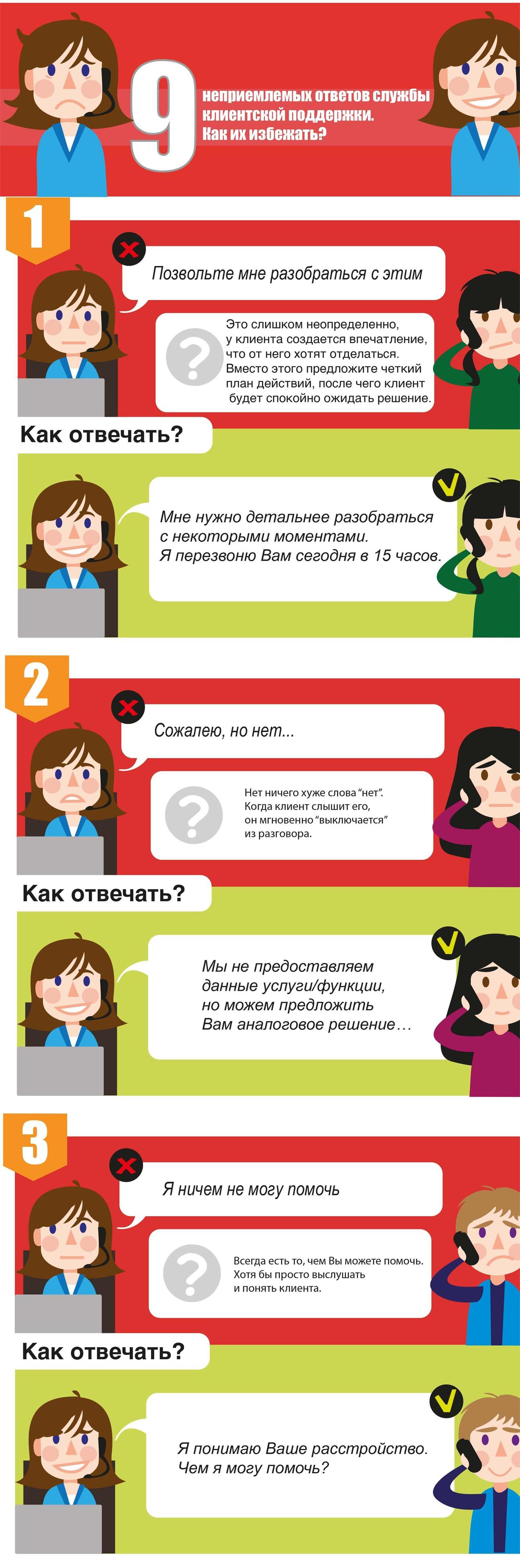 9 запретных ответов клиентам - 2