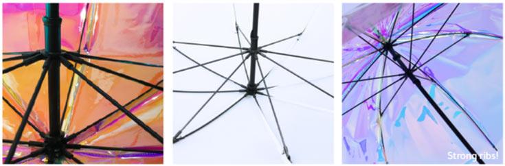 Зонт oombrella будет выпускаться в трех вариантах: радужном, белом и черном