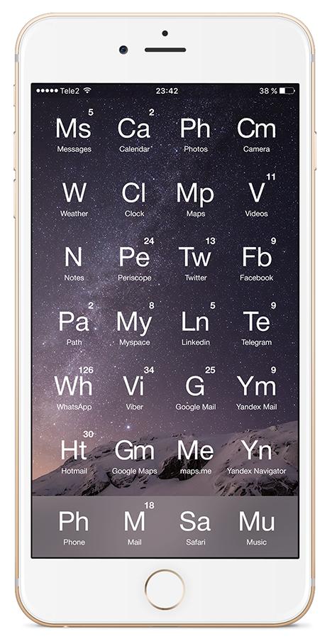 «Любимый смартфон химика-технолога» или унификация рабочего стола вашего гаджета - 13