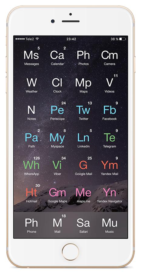 «Любимый смартфон химика-технолога» или унификация рабочего стола вашего гаджета - 14