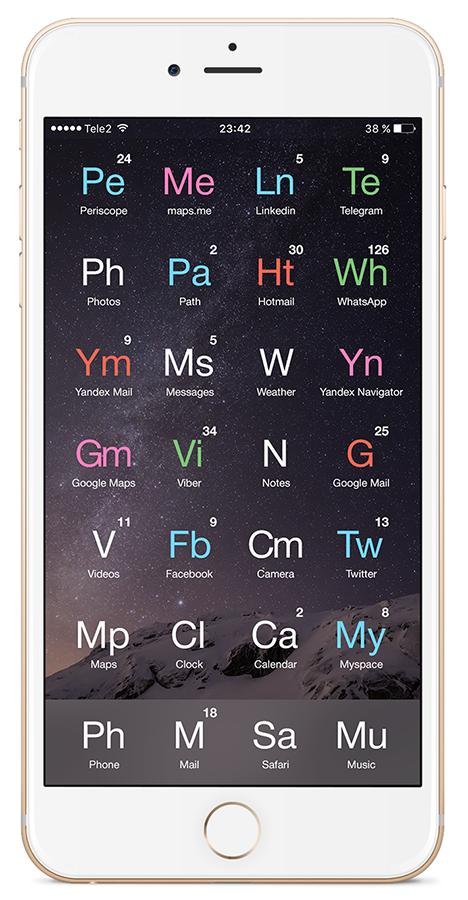 «Любимый смартфон химика-технолога» или унификация рабочего стола вашего гаджета - 15