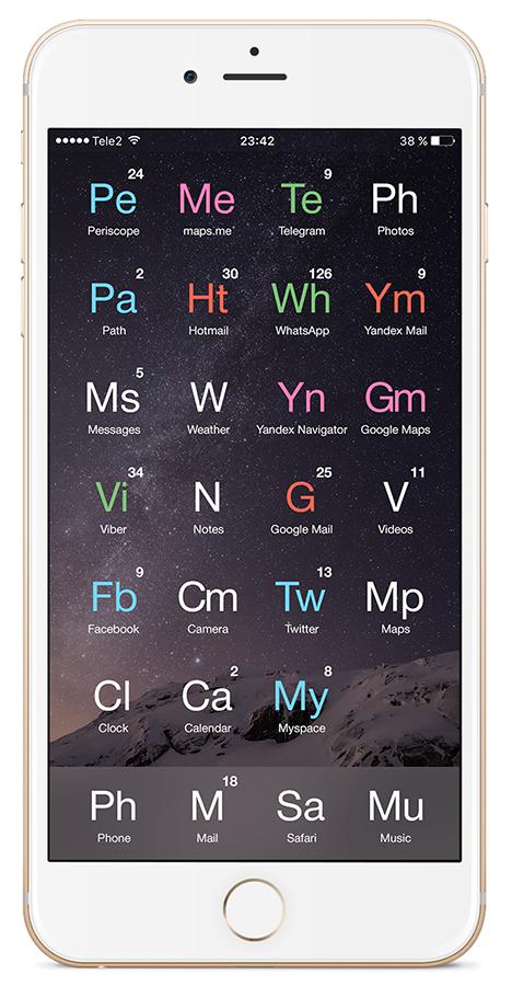 «Любимый смартфон химика-технолога» или унификация рабочего стола вашего гаджета - 16