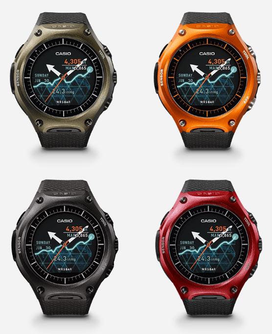 Часы Casio WSD-F10 будут доступны в четырех цветовых вариантах