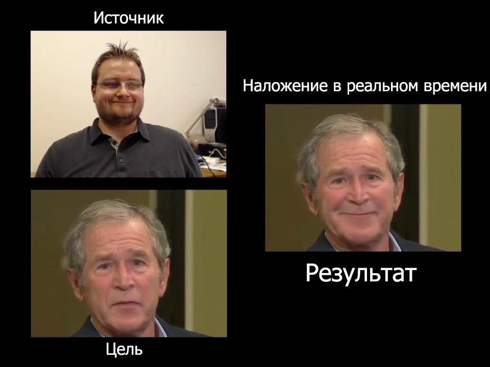 Программа Face2Face переносит мимику с одного лица на другое в реальном времени - 1