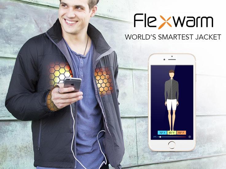 Управлять обогревателем куртки Flexwarm можно с помощью смартфона