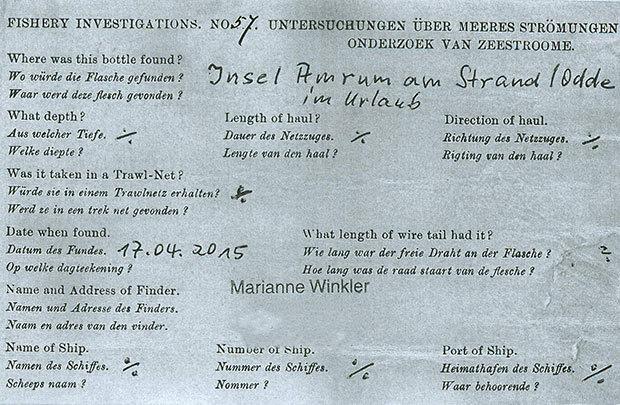 Послание в бутылке 108-летней давности занесено в Книгу рекордов Гиннесса - 4