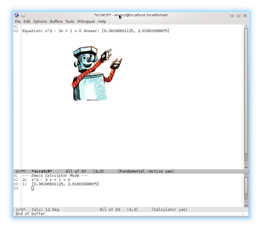 Emacs таинственный: Путешествие в калькулятор - 1