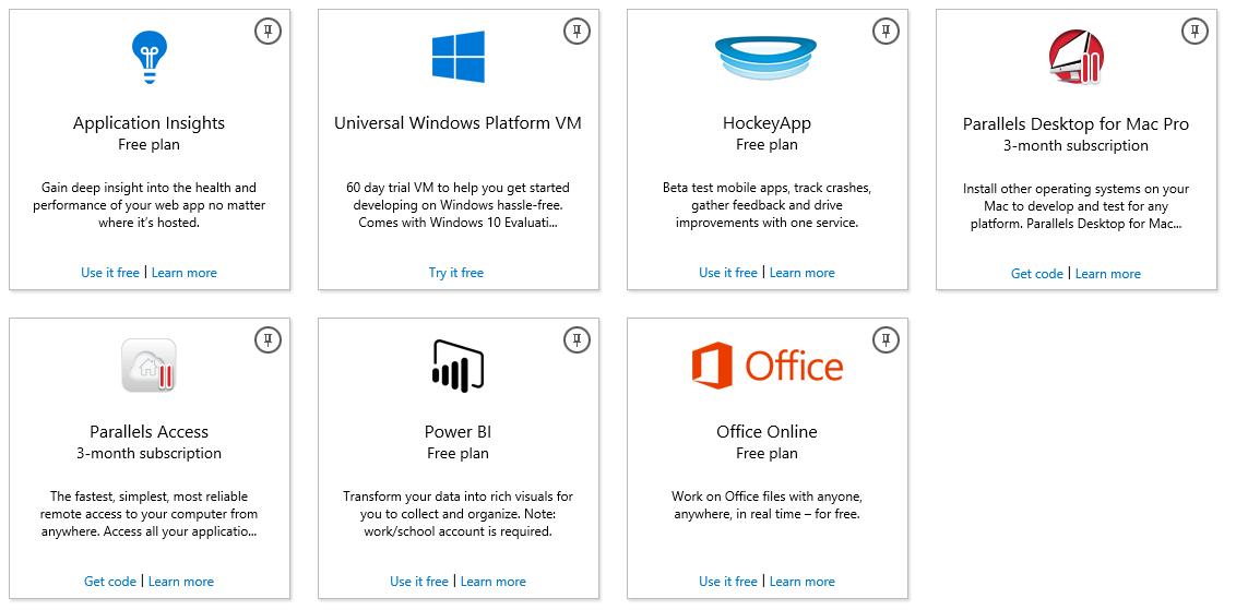 Бесплатный пакет возможностей для разработчика: Visual Studio Dev Essentials - 2