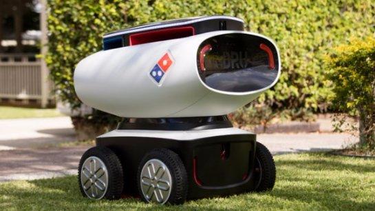 Создан робот для доставки пиццы