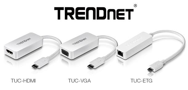 TrendNet представила адаптеры TUC-HDMI, TUC-VGA и TUC-ETG