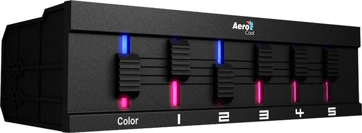 В подсветке Aerocool F5XT используются трехцветные светодиоды