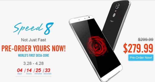 В течение месяца смартфон Zopo Speed 8 будет доступен по сниженной цене $280