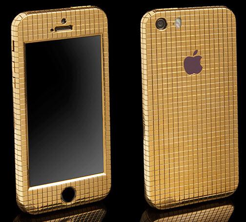 Goldgenie покрыла смартфон iPhone SE 200 граммами 18-каратного золота