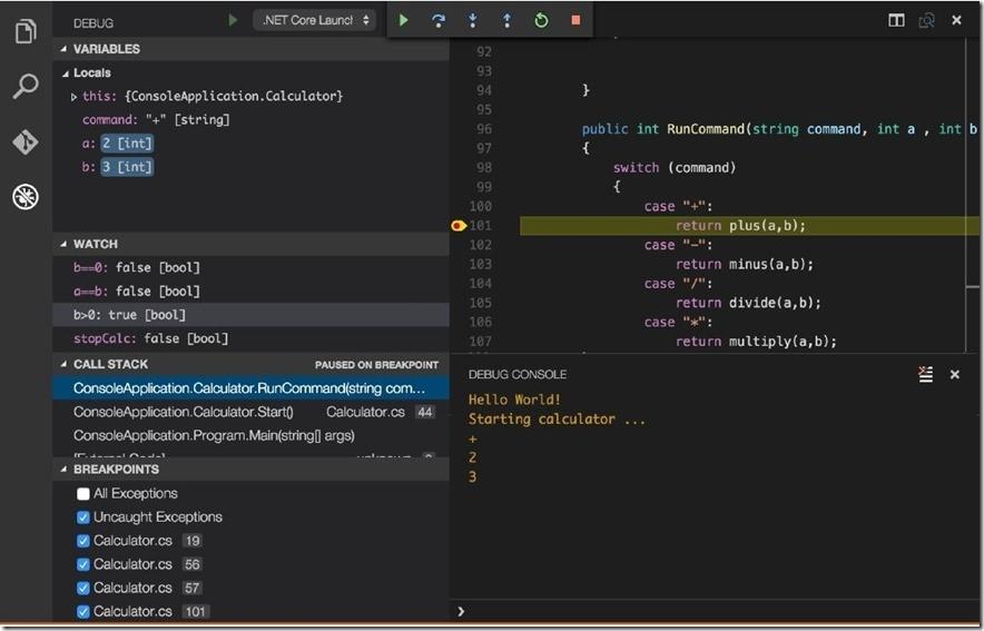 Экспериментальная функция отладки .NET Core в Visual Studio Code - 1