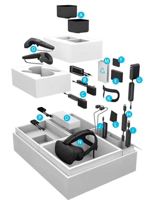 Что скрывает упаковка гарнитуры виртуальной реальности HTC Vive