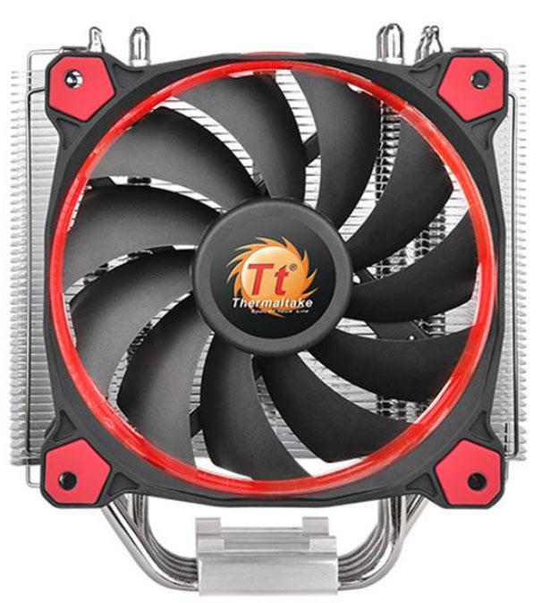 Габариты охладителя Thermaltake Riing Silent 12 равны 159 х 140 x 74 мм