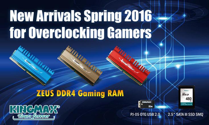 Весеннее обновление каталога Kingmax также включает модули памяти Zeus DDR3