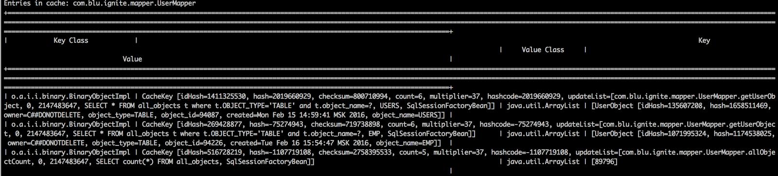 Настройка и использование Apache Ignite в качестве MyBatis кэш второго уровня (L2 cache) - 3