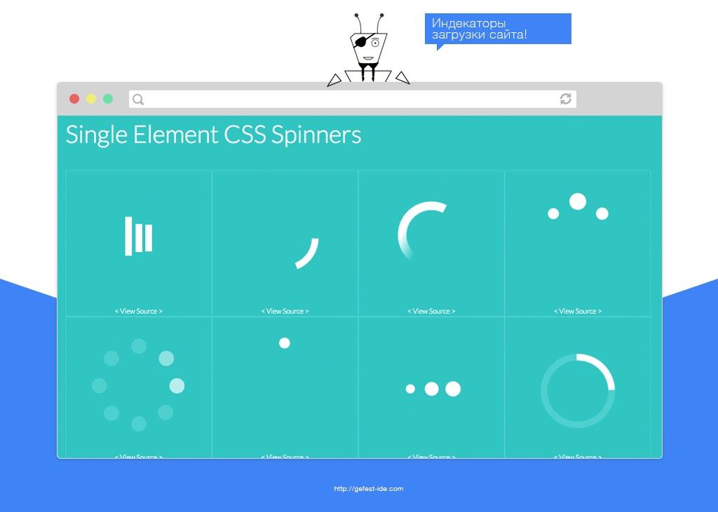 библиотека для создания индикаторов загрузки - Css-loaders