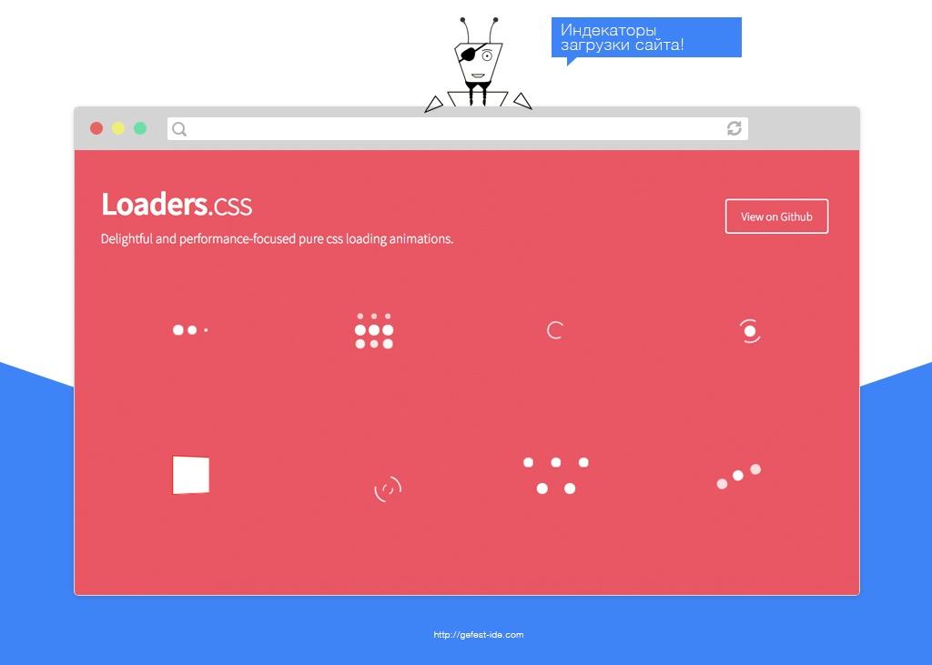 библиотека для создания индикаторов загрузки - Loaders
