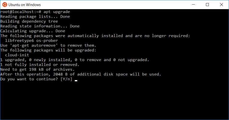 Ubuntu интегрировали в Windows 10 - 6
