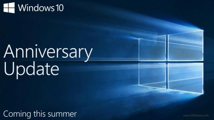 Летом этого года выйдет бесплатное обновление Windows 10 Anniversary Update