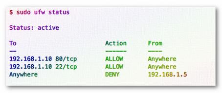 Как заблокировать IP адреса через ufw - 2