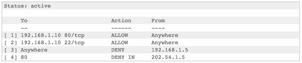 Как заблокировать IP адреса через ufw - 3