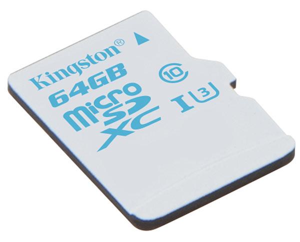 Пока доступны карточки памяти Kingston microSD Action Camera UHS-I U3 объемом 16 и 32 ГБ
