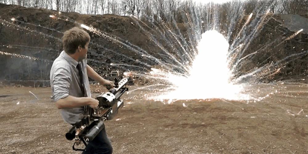 Безумная термитная пушка для тех, кому мало бытового огнемёта (16+) - 1