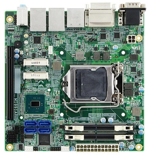 Плата iBase MI991 оснащена двумя сетевыми контроллерами